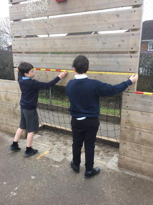 Measuring playground equipment.