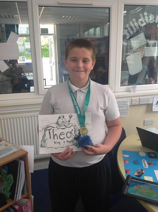 Theo is officially King of the nuggets with an original drawing from a Nessy artist WOW