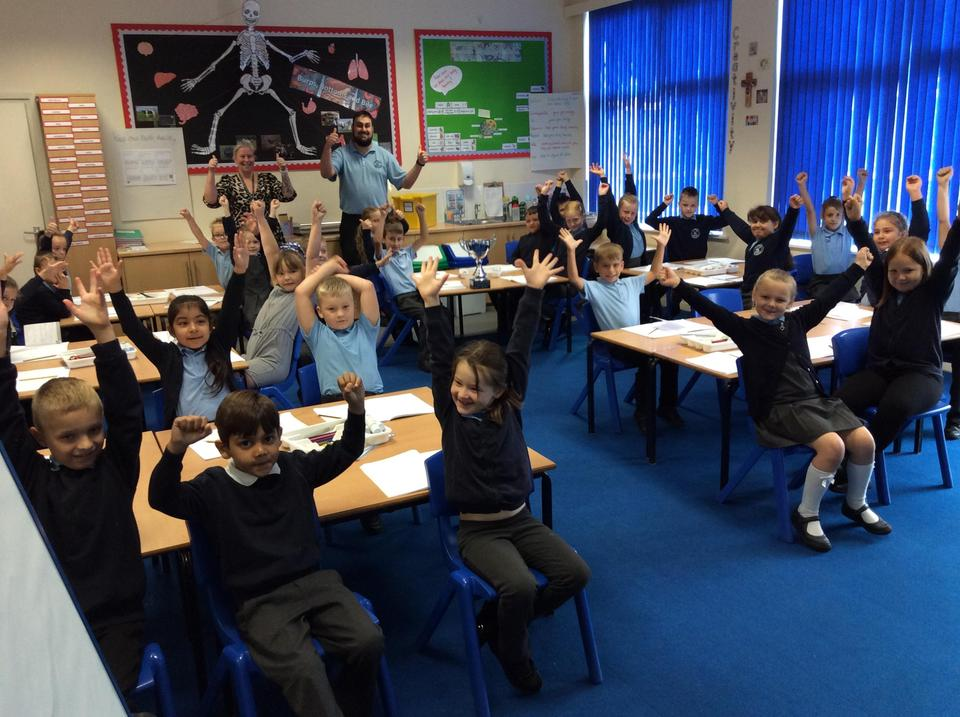 Disciples (Y3) Won the Class award for 100% attendance this week
