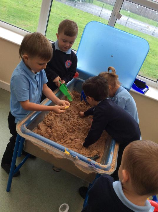 We are creative in our sand play.