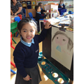 We've been busy drawing self-portraits