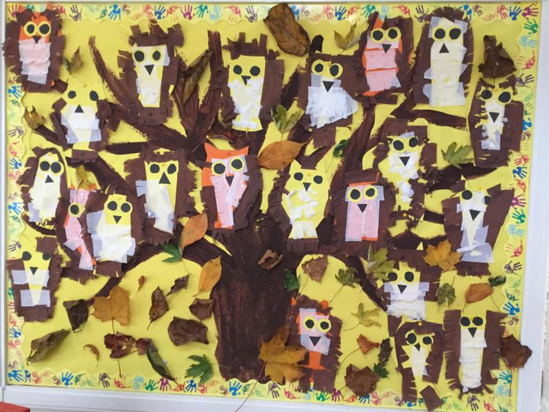 We made barn owls to go with our book The Owl Who Was Afraid of the Dark.