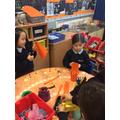 Making and decorating lanterns