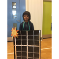 What a super solar panel costume!