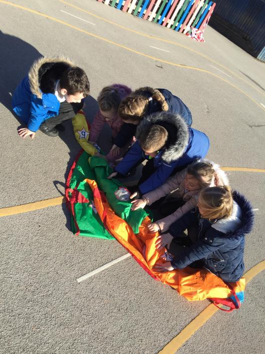 Folding the sails
