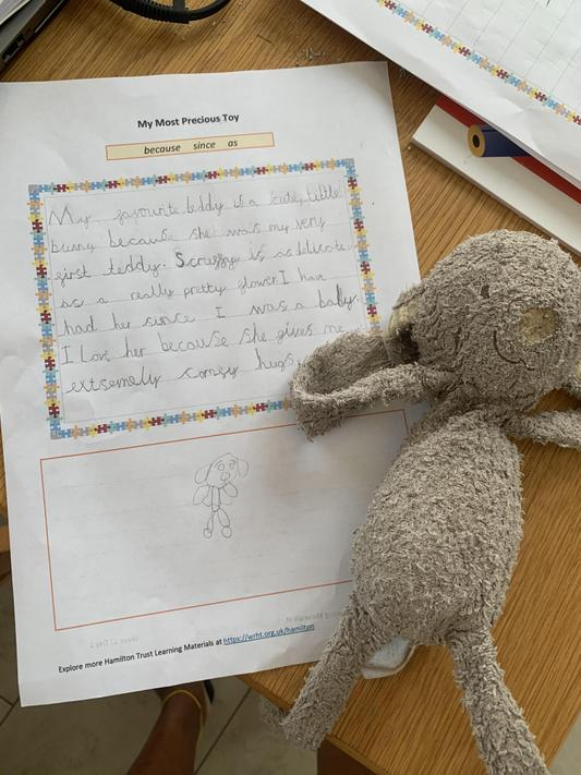 AA (2O) has been working on her handwriting!
