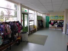 Y3 cloakroom area & door to playground 2015