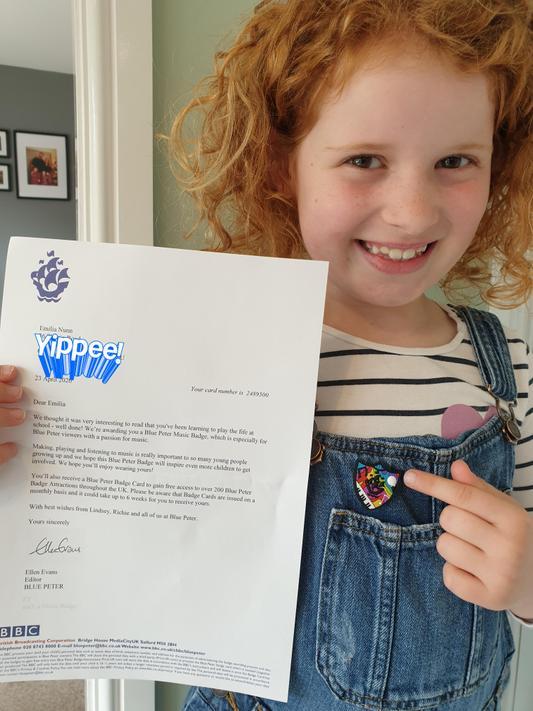 EN (2N) has her own Blue Peter badge!
