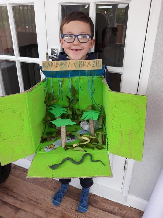 JA (2O) made his very own rainforest!