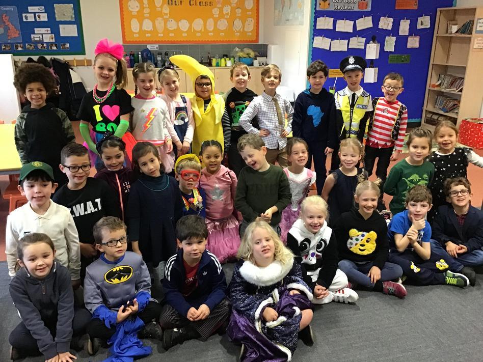 Dressing 'fancy' for Children in Need!