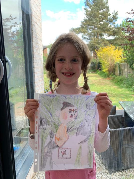 Holly (2C) has been learning about Frida Khalo and has recreated one of her paintings