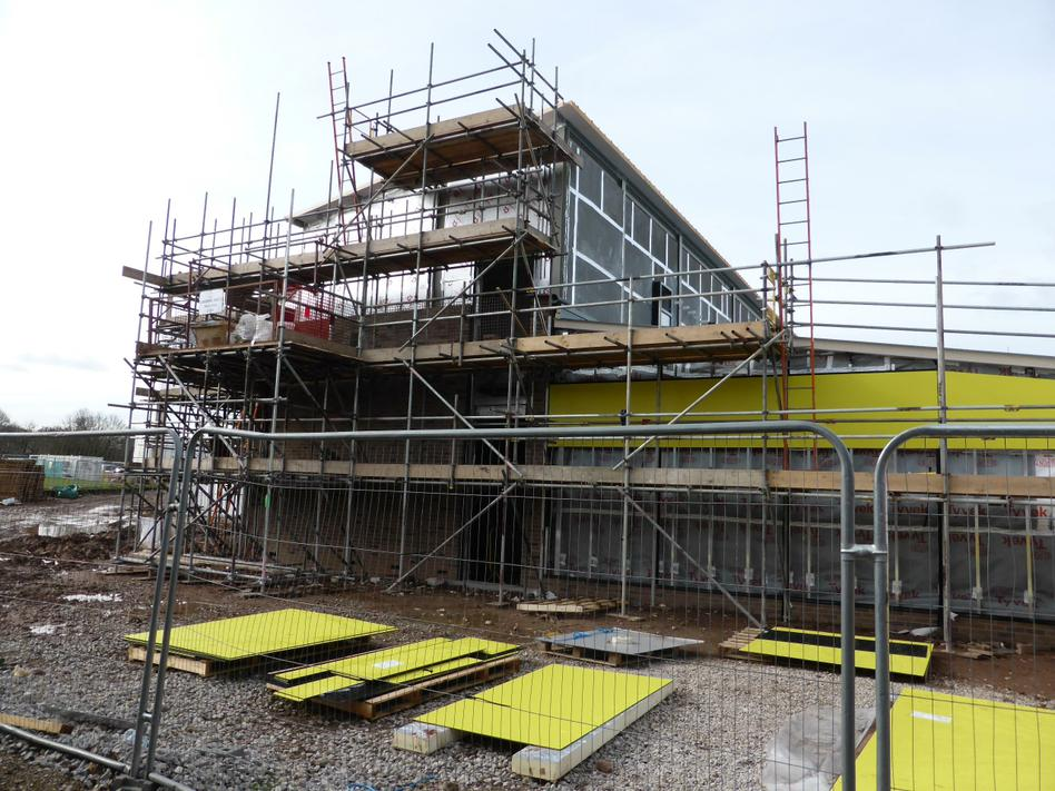 2nd April - The new yellow panels waiting to go up