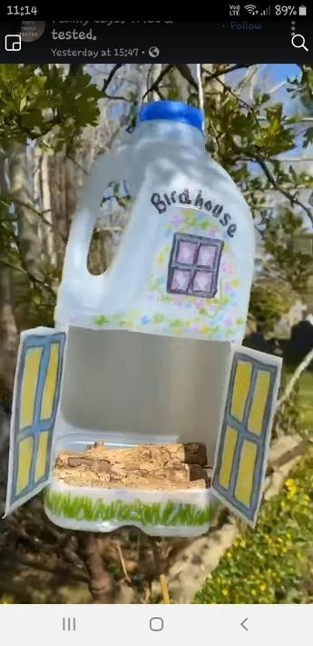 We saw this bird house idea