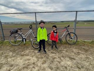 JL(2C) and brother have been on lots of bike rides