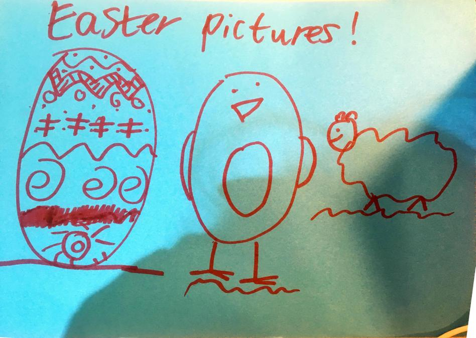 EL (2C) has drawn this lovely Easter picture