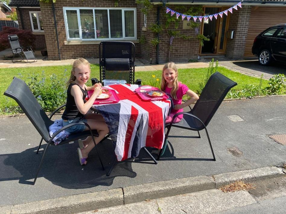 MP (2O) enjoying VE day with her sister!