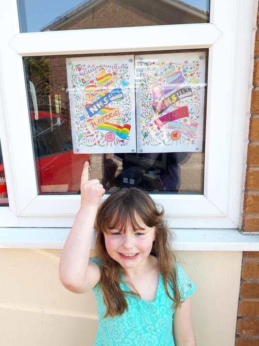 We've coloured in thank you messages