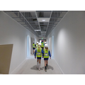 Walking along the top junior corridor