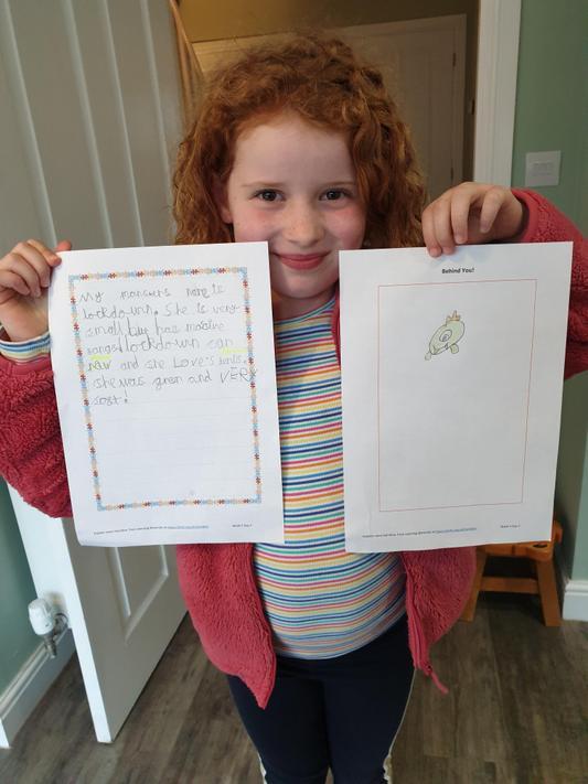 EN (2N) has been busy doing her English activities