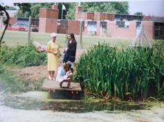The school pond & rear of school 1995
