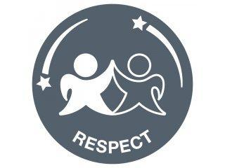 Respect for the referee, for the opposition, for your team mates, for yourself and for the game. Accepting victory and defeat with grace, treating others politely and with understanding. Respect every day, in every sport and for everyone.