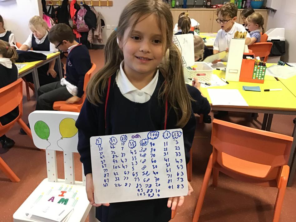 Counting in tens!