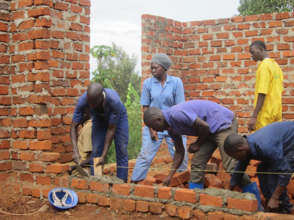 Bricklaying at NVI