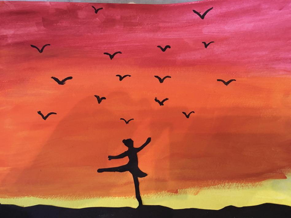 Sunset painting by Coco!