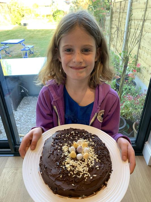 HB (2C) Made a delicious chocolate cake