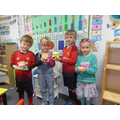 Year 1 with their spotty cupcakes