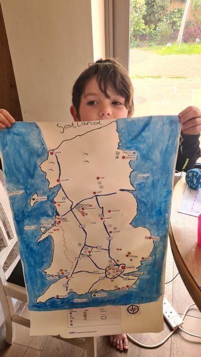 BHJ (2O) made a map of England!