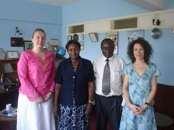 Mrs Horner & Mrs Cochrane meet the Mayor of Jinja