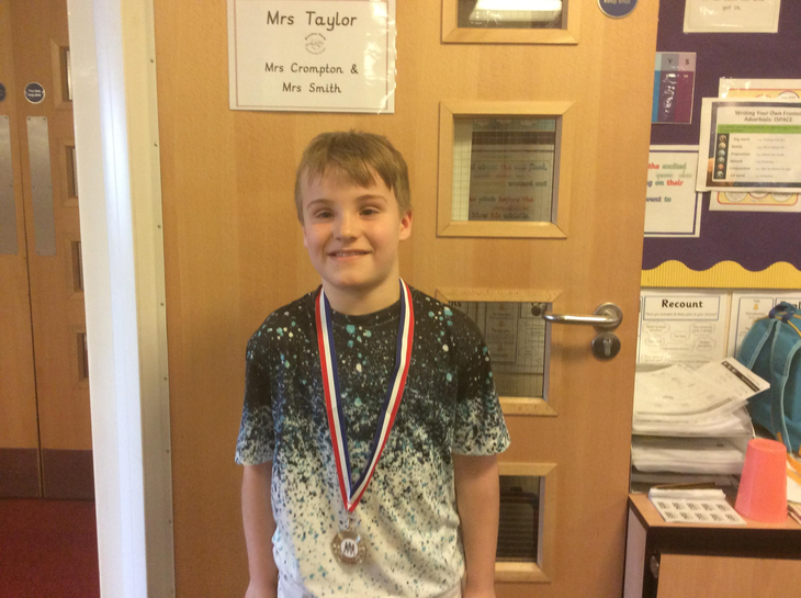 Elliot who finished 2nd in the Rochdale games.