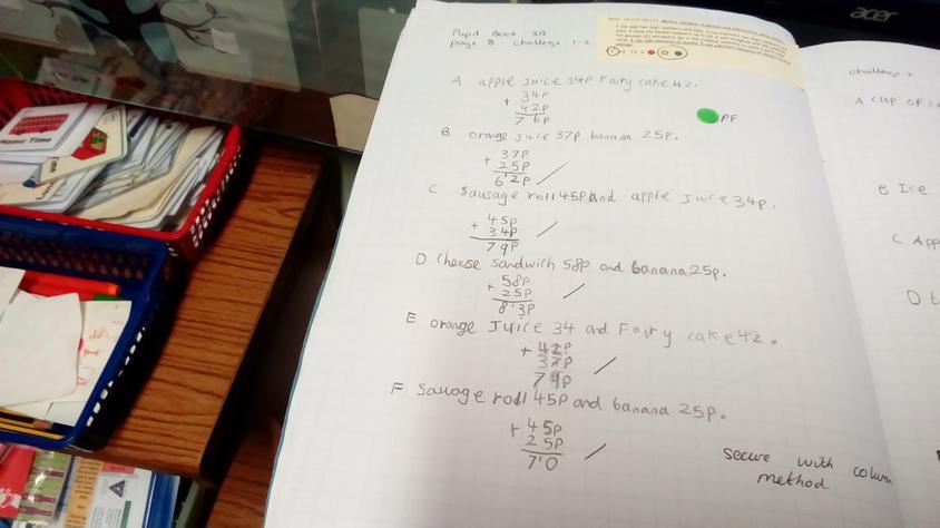 Column Method-focusing on money