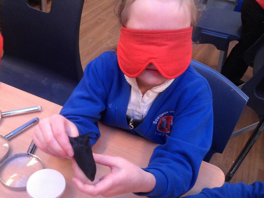Using blindfolds!