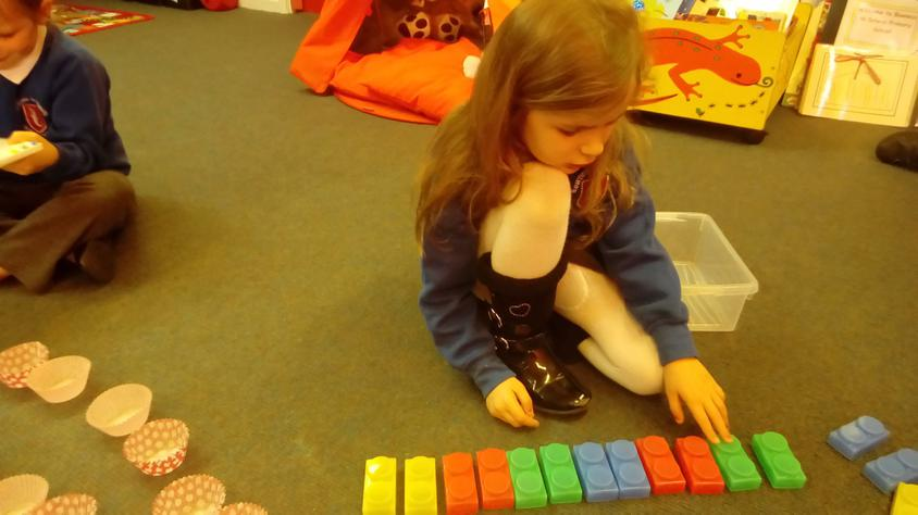 Counting in 2s.