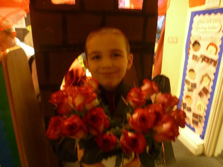 Lovely roses for the girls and teachers!