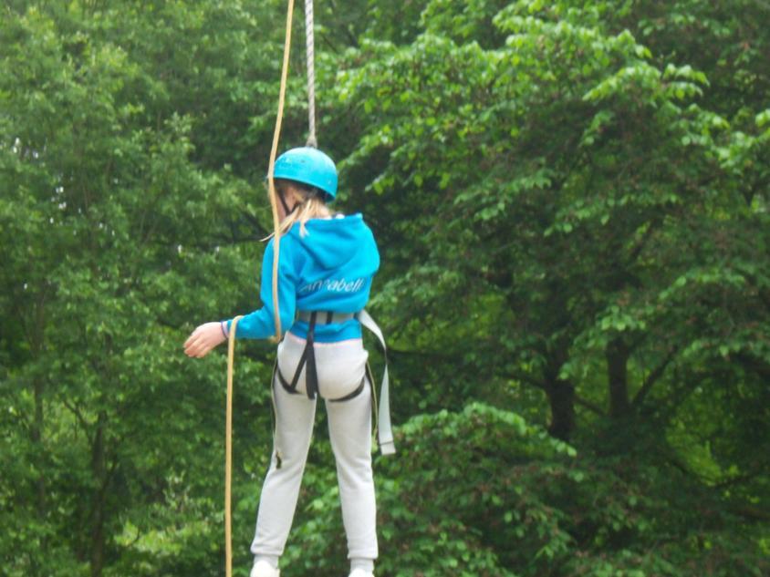 Good zip wire skills Annabelle.
