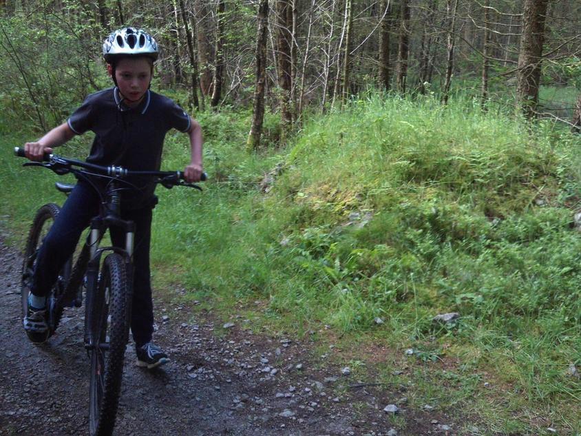Mountain biking just comes naturally.