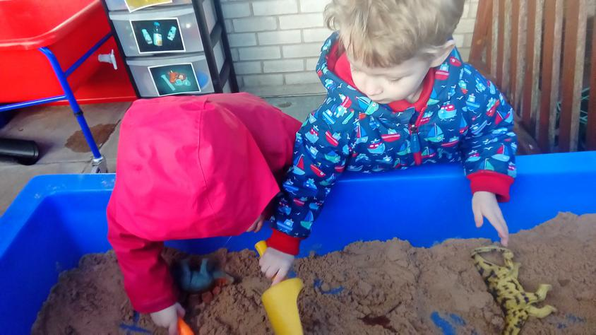 Something was buried in the sand tray...