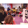 Pre school joined us for a story