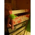 Oh dear! Elfie is in the sweetie box!