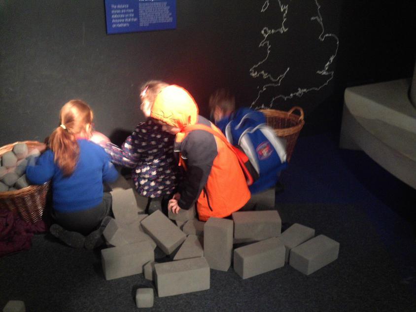 Building Hadrians wall.