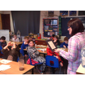 Hot chocolate and a guest story teller in Class 4