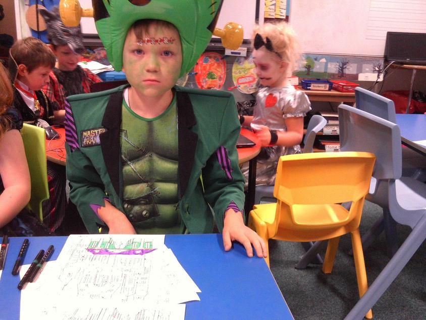 Harvey enjoyed the Halloween crafts
