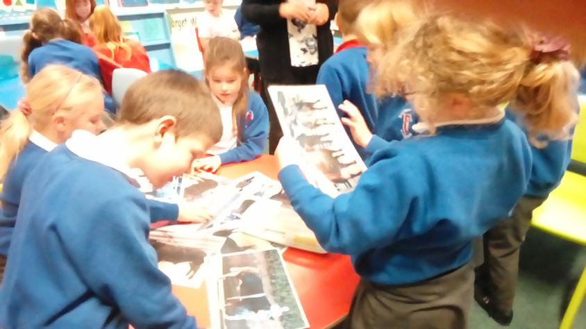 We enjoyed looking at photographs.