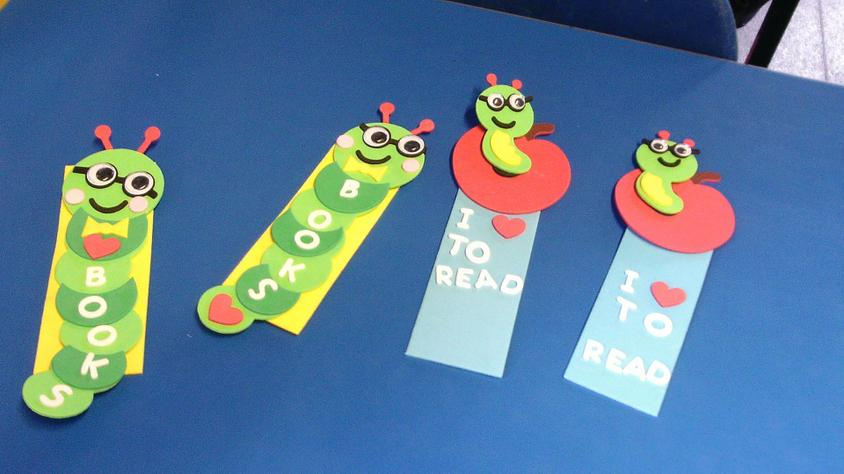 Some of our finished book marks.