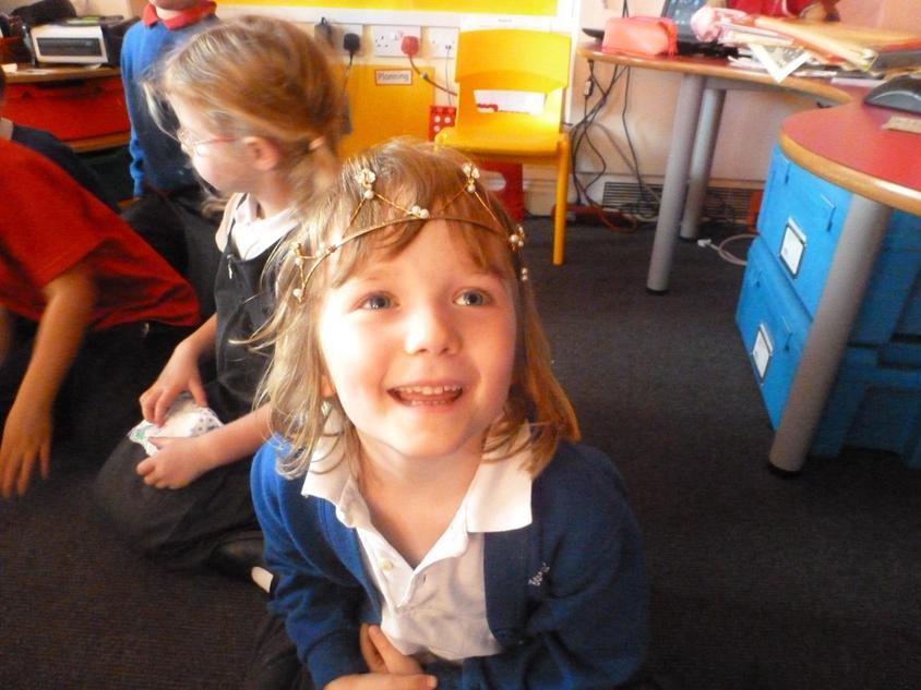 The girls loved the handmade tiara.