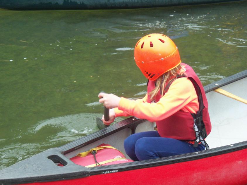 Good skills in a canoe.