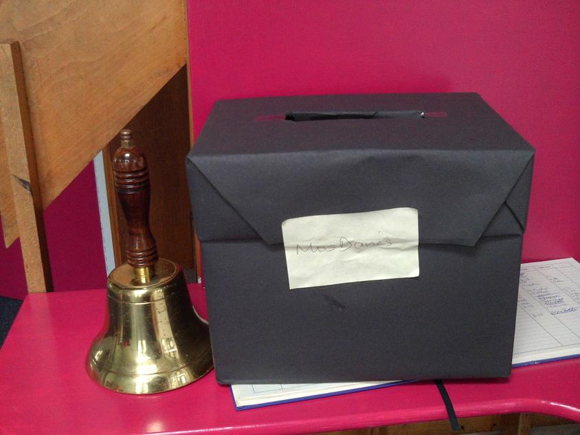 The sealed ballot box